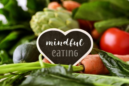 mindful eating sign on food